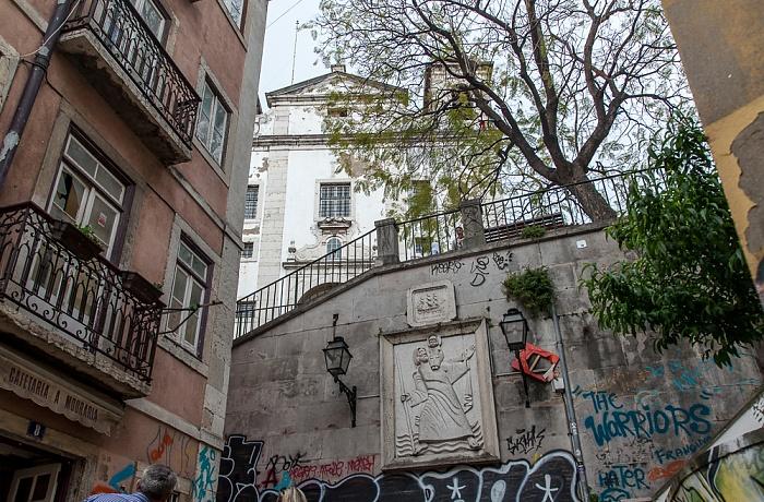 Alfama: Escadinhas de São Cristóvão Lissabon