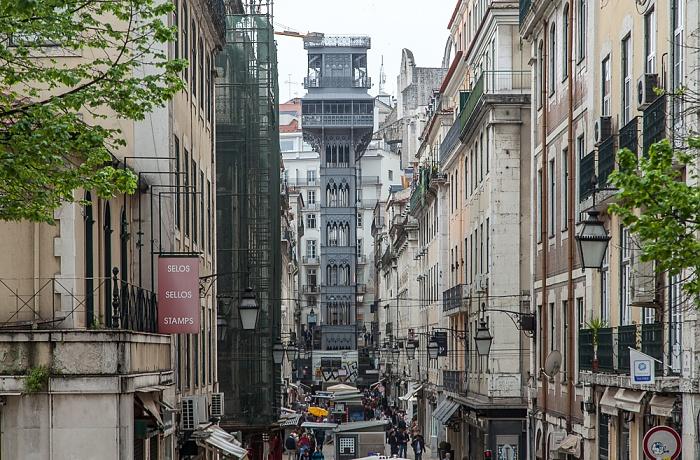 Baixa: Rua de Santa Justa, Elevador de Santa Justa Lissabon 2015