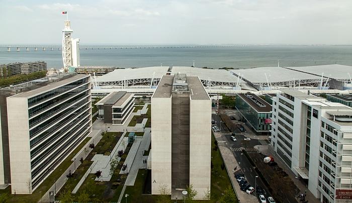 Blick aus dem VIP Executive Art's Hotel: Feira Internacional de Lisboa (Parque das Nações) Lissabon 2015
