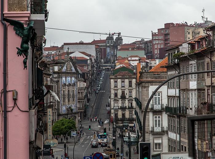 Porto Centro Histórico: Rua dos Clérigos (unten), Rua de 31 de Janeiro Igreja de Santo Ildefonso Igreja dos Congregados