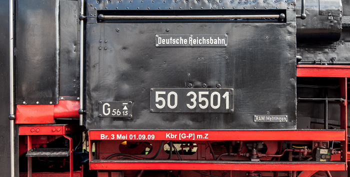 Blumberg Bahnhof Zollhaus (Sauschwänzlebahn/Wutachtalbahn): Dampflokomotive 50 3501