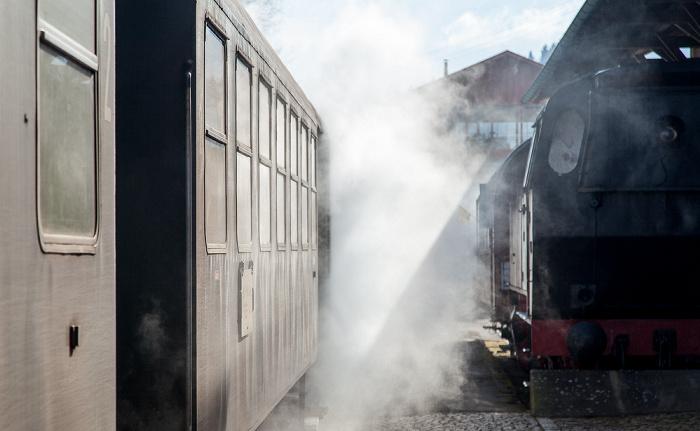 Blumberg Bahnhof Zollhaus (Sauschwänzlebahn/Wutachtalbahn): Dampfzug