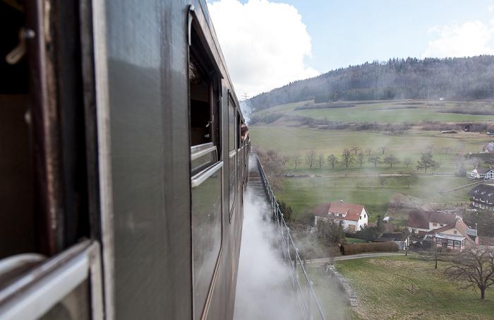 Schwarzwald Sauschwänzlebahn (Wutachtalbahn): Epfenhofer Viadukt Epfenhofen