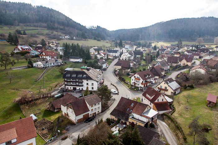Schwarzwald Sauschwänzlebahn (Wutachtalbahn): Blick vom Epfenhofer Viadukt - Epfenhofen
