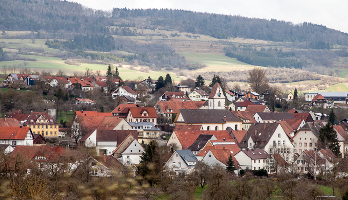 Schwarzwald Sauschwänzlebahn (Wutachtalbahn): Blick vom Talübergang Fützen - Fützen