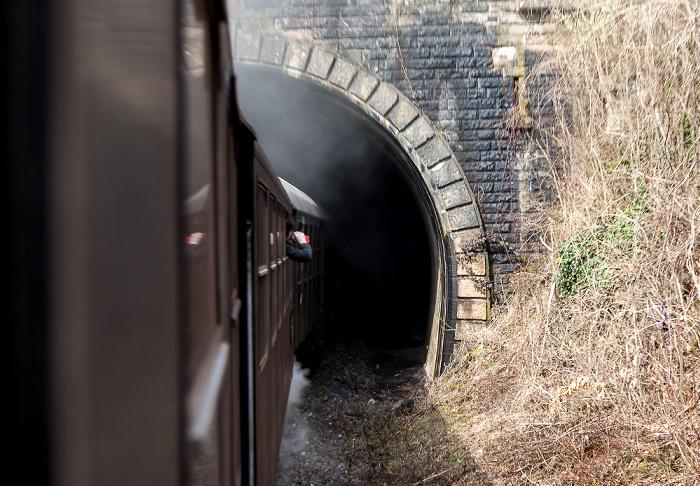 Schwarzwald Sauschwänzlebahn (Wutachtalbahn): Einfahrt zum Großen Stockhalde-Tunnel Grimmelshofen Großer Stockhalde-Tunnel Grimmelshofen