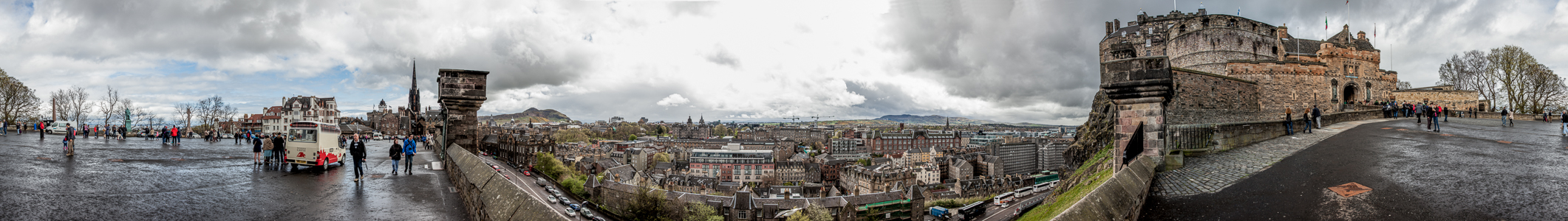 V.l.: Castle Esplanade, Old Town, Holyrood Park, Lauriston, Edinburgh Castle