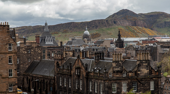 Blick von der Castle Esplanade (Old Town): Old Town Edinburgh