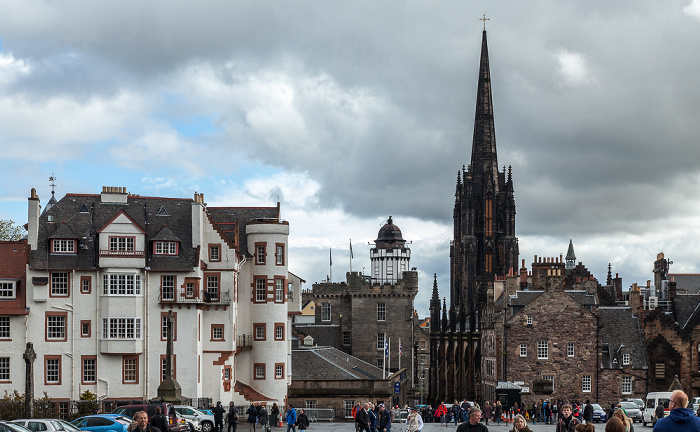 Edinburgh Old Town: Castle Esplanade, The Hub (ehem. Highland Tolbooth St John's Church)