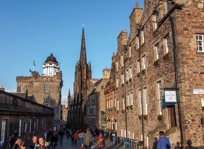 Old Town: Castlehill (Royal Mile), The Hub (ehem. Highland Tolbooth St John's Church) Edinburgh