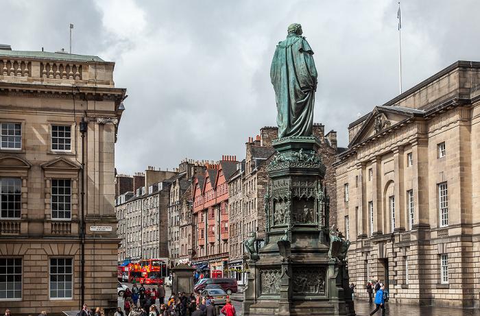 Old Town: Parliament Square - Walter Francis Montagu Douglas Scott Statue Edinburgh