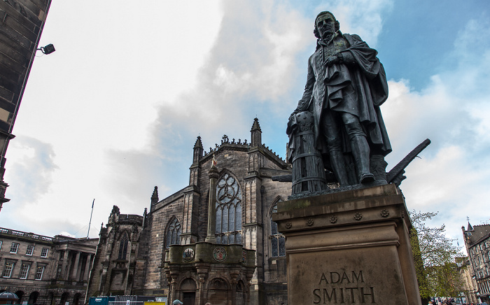 Old Town: Parliament Square - Adam Smith Statue Edinburgh