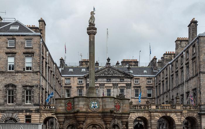 Old Town: Parliament Square - Mercat Cross of Edinburgh