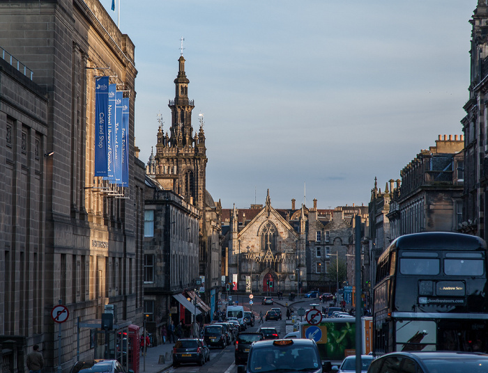 Edinburgh Old Town: George IV Bridge Augustine United Church Bedlam Theatre National Library of Scotland