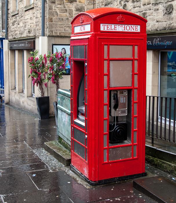 Edinburgh Old Town: High Street (Royal Mile) - Telefonzelle