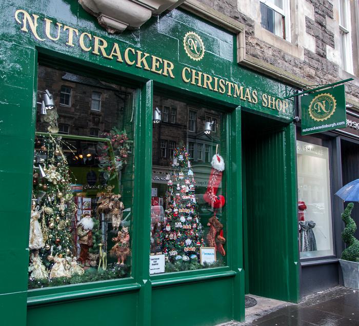 Edinburgh Old Town: High Street (Royal Mile) - The Nutcracker Christmas Shop
