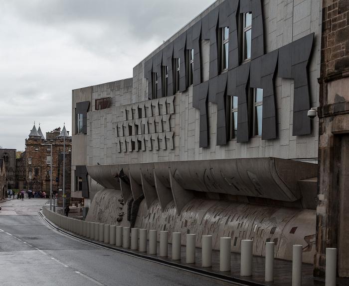 Old Town: Canongate (Royal Mile) - Scottish Parliament Building (Cannongate Building) Edinburgh