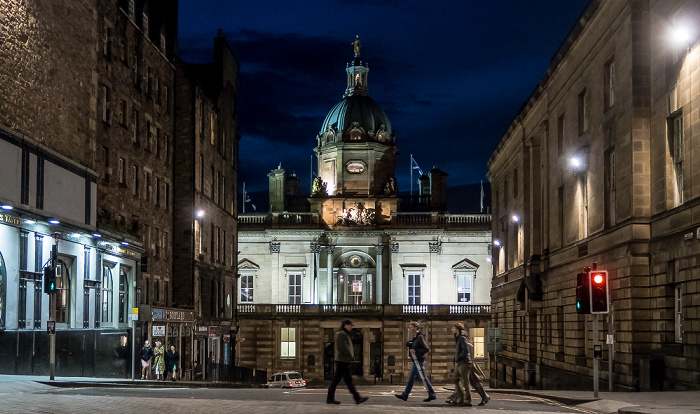 Old Town: Bank Street - Bank of Scotland Head Office Edinburgh