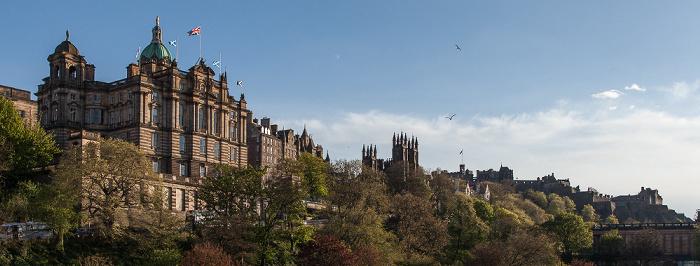 Old Town (v.l.): Bank of Scotland Head Office, New College (University of Edinburgh) und Edinburgh Castle Edinburgh