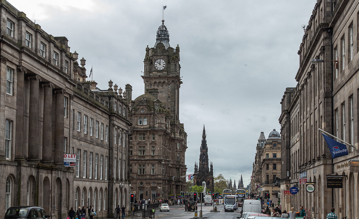 Edinburgh New Town: Waterloo Place / Princes Street Main Post Office Scott Monument The Balmoral