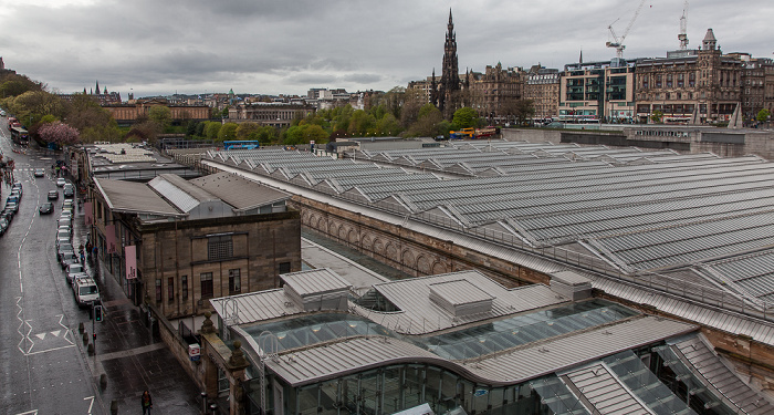New Town: Edinburgh Waverley Railway Station Market Street Scott Monument