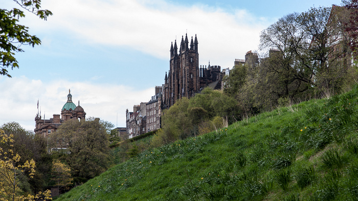 Edinburgh New Town: Princes Street Gardens Bank of Scotland Head Office New College Old Town University of Edinburgh
