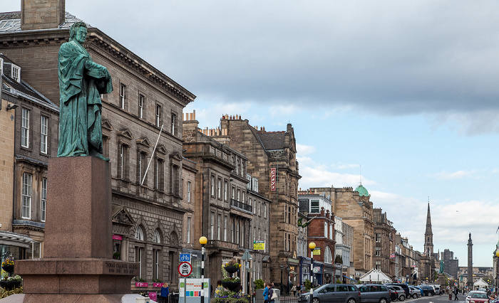 Edinburgh New Town: George Street - Thomas Chalmers Statue Melville Monument St Andrew's and St George's West Church