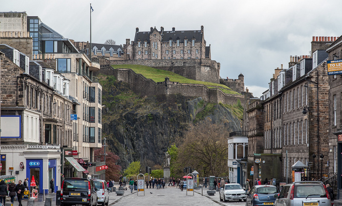 Edinburgh New Town: Castle Street Castle Rock Edinburgh Castle
