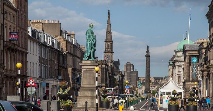 New Town: George Street - William Pitt Statue Edinburgh