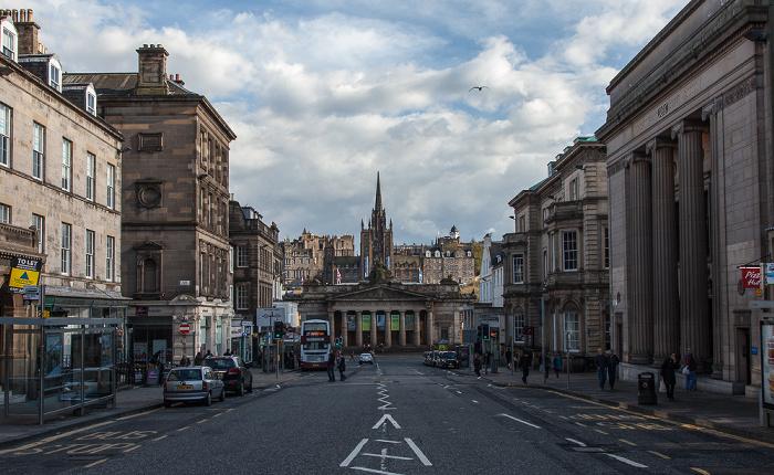 Edinburgh New Town: Hanover Street Lloyds TSB Scotland Bank Royal Scottish Academy Building The Hub