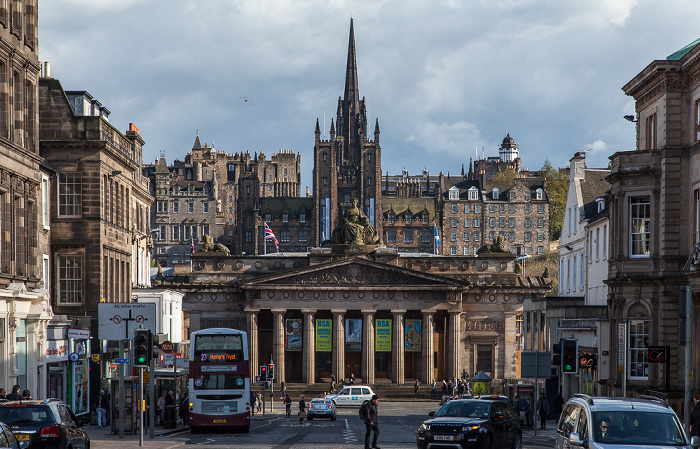 Edinburgh New Town: Hanover Street, Royal Scottish Academy Building Old Town The Hub