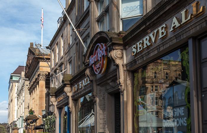 Edinburgh New Town: George Street - Hard Rock Cafe The Dome