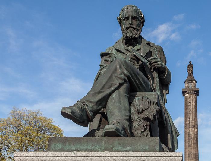 New Town: George Street - Statue of James Clerk Maxwell Edinburgh
