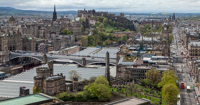 Blick vom Nelson Monument Edinburgh