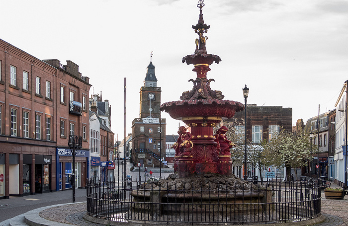 Dumfries High Street: Brunnen Midsteeple