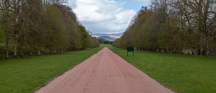 Thornhill Zufahrtsstraße zu Drumlanrig Castle