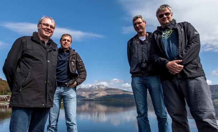 Luss Loch Lomond and The Trossachs National Park: Loch Lomond - Uwe, Ralph, Boris und Jürgen