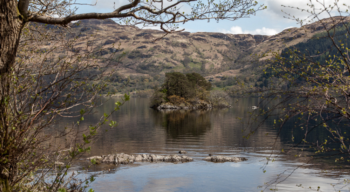 Tarbet (Argyll and Bute) Loch Lomond and The Trossachs National Park: Loch Lomond mit Tarbert Isle