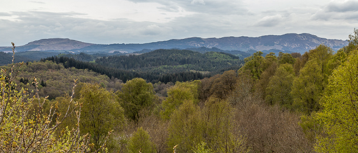 Aberfoyle Blick von The Lodge: Loch Lomond and The Trossachs National Park