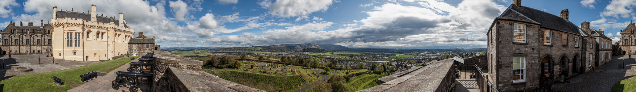 Stirling Castle, River Forth Valley, Ochil Hills Abbey Craig National Wallace Monument