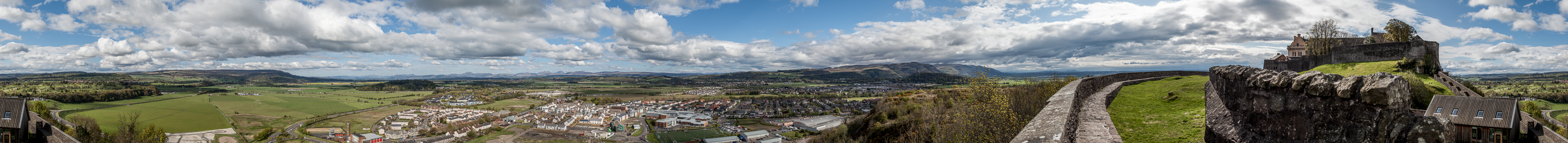 River Forth Valley, Stirling Castle Abbey Craig National Wallace Monument