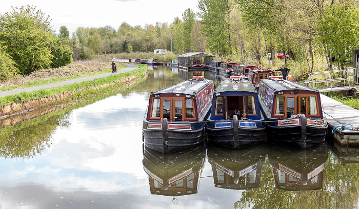 Falkirk Forth and Clyde Canal mit Ausflugsbooten