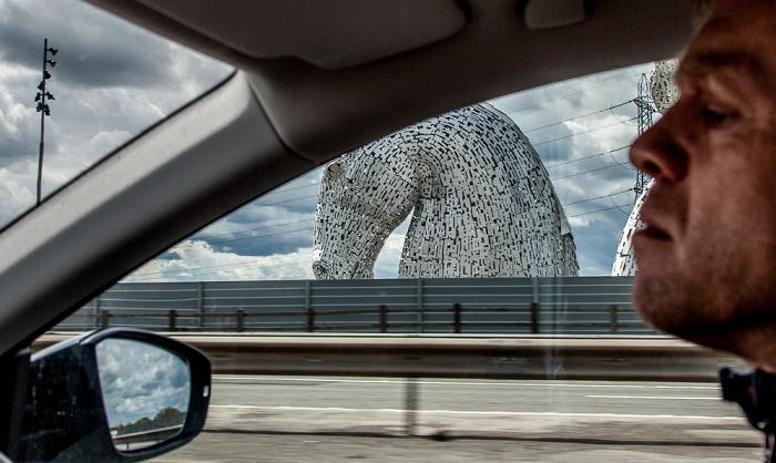 Falkirk The Helix: The Kelpies (Blick vom M9 motorway)