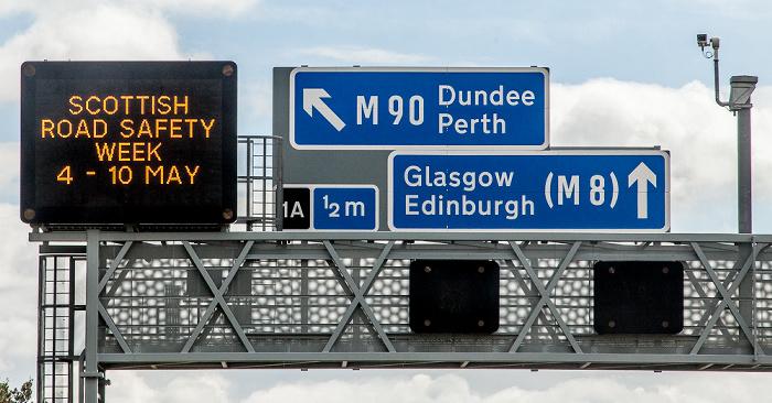 Schottland M9 motorway