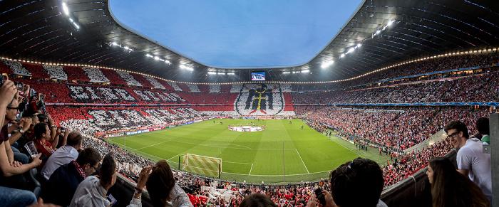 Allianz Arena München (vor dem Champions League-Halbfinalrückspiel 2015 FC Bayern München - FC Barcelona) München 2015