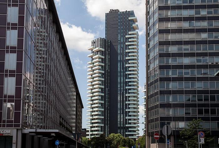 Mailand Centro Direzionale di Milano: Piazza Luigi Einaudi Torre Solaria Torri residenziali delle Varesine