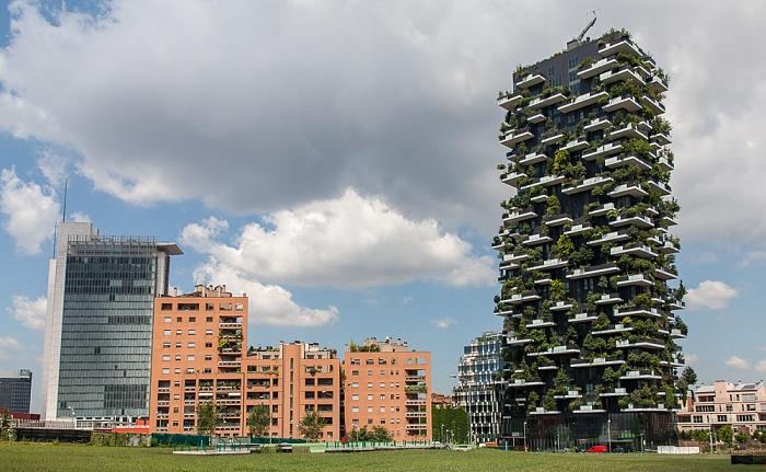 Mailand Centro Direzionale di Milano: Porta Nuova - Bosco Verticale (rechts) Torri Garibaldi