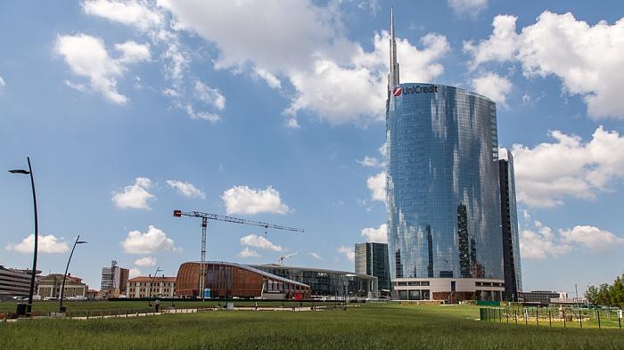Mailand Centro Direzionale di Milano: Porta Nuova - Wheatfield (von Agnes Denes) Torre Unicredit