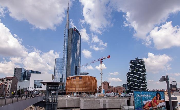 Mailand Centro Direzionale di Milano: Porta Nuova Bosco Verticale Torre Unicredit UniCredit Pavilion