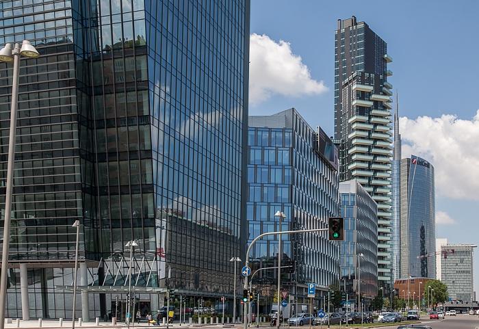 Mailand Centro Direzionale di Milano: Porta Nuova - Viale della Liberazione Diamantini Torre Diamante Torre Unicredit Torri residenziali delle Varesine